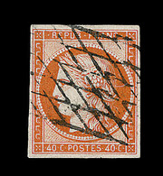O EMISSION CERES 1849 - O - N°5 - Obl. Grille Sans Fin - Signé Calves - TB - 1849-1850 Cérès