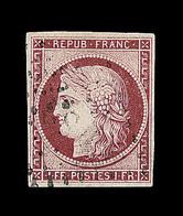 O EMISSION CERES 1849 - O - N°6 - 1F Carmin - Obl PC - TB - 1849-1850 Cérès