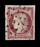 O EMISSION CERES 1849 - O - N°6 - Obl Gros Points - Signé Roumet - Belles Marges - TB/SUP - 1849-1850 Cérès