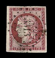 O EMISSION CERES 1849 - O - N°6 - Obl PC 3313 - Signé Brun/Calves - TB - 1849-1850 Cérès