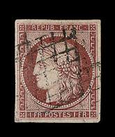 O EMISSION CERES 1849 - O - N°6 - Obl Grille - TB - 1849-1850 Cérès