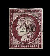 O EMISSION CERES 1849 - O - N°6 - Obl. PC 2490 - Signé A. Brun - TB - 1849-1850 Cérès