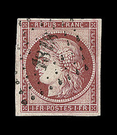 O EMISSION CERES 1849 - O - N°6 - Obl. PC 1818 - Signé Calves - TB - 1849-1850 Cérès