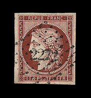 O EMISSION CERES 1849 - O - N°6B - 1F Carmin Brun - Obl PC 2272 - Signé Brun - TB/SUP - 1849-1850 Cérès