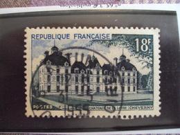 """1950-1959-timbre Oblitéré N°  980     """" Cheverny     """"     Cote   1.10     Net 0.35 - France"""