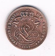 1 CENTIEM 1887 VL    BELGIE /8304/ - 1865-1909: Leopold II