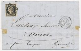 LAC Emission CERES 1849 Sur Lettre - LAC - N°3 - Obl. Grille  + T15 Bordeaux - 8/6/50 - B/TB - Marcophilie (Lettres)