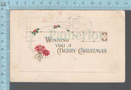 CPA -  Merry Christmas, Flower ,Cover Torrington Conn. On A USA Stamp - Noël