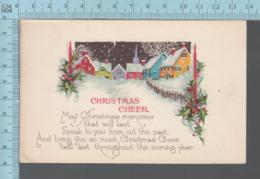 CPA - Christmas Cheer, Village, Pink Killer 1921 On A USA Stamp - Noël