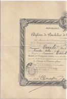 DIPLOME DE BACHELIER DE L'ENSEIGNEMENTSECONDAIRE -RF-1931- PARIS  N°5813 - Diplômes & Bulletins Scolaires