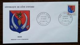 Côte D'Ivoire - FDC 1973 - YT N°347 - Armoiries De Daloa - Côte D'Ivoire (1960-...)