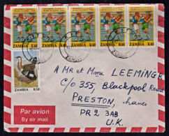 Ca0187 ZAMBIA 1993, Olympic And Bird Stamps On Kitwe Cover To UK - Zambie (1965-...)
