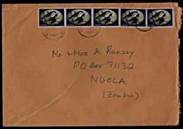 Ca0195 ZAMBIA 2004, 5 @ SG 724 50K Sunbirds On Kitwe Cover To Ndola - Zambia (1965-...)