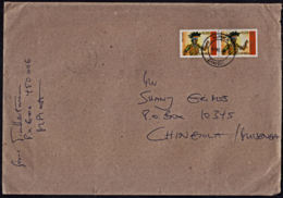 Ca5137 ZAMBIA 2008, 2 @ SG 935 40th Anniv Independence On Mpika Cover To Chingola - Zambie (1965-...)