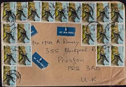 Cb0109 ZAMBIA 1993, SG 701 Antelope On Multi-stamp Cover From Ndola Broadway To UK - Zambie (1965-...)