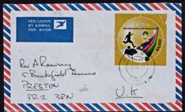 Cb5105 ZAMBIA 2011, Football Stamp On Maramba Cover To UK - Zambia (1965-...)
