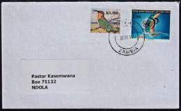 Cb5109 ZAMBIA 2011, UNO & Bird Stamps On Matero Cover To Ndola - Zambia (1965-...)