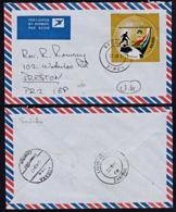 Cb5110 ZAMBIA 2011, Football Stamp On Sesheke Cover To UK - Zambia (1965-...)