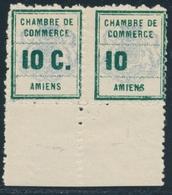 """** TIMBRES DE GREVE - ** - N°1a - Paire - BDF - Dt 1 Ex Sans Le """"C"""" - Pli Horiz. - Strike Stamps"""