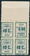 ** TIMBRES DE GREVE - ** - N°1b - Bloc De 4 - BDF - Dt 1 Tête Bêche - TB - Strike Stamps