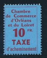 ** TIMBRES DE GREVE - ** - N°2 - 10F - Orléans - TB - Strike Stamps