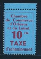 ** TIMBRES DE GREVE - ** - N°2 - Orléans - Petit BDF - TB - Strike Stamps