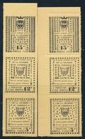 ** TIMBRES DE GREVE (REF. MAURY) - ** - N°4/6 - SAUMUR - 2 Bdes De 3 - Dent. Et ND - TB - Strike Stamps