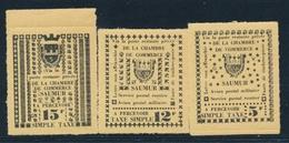 ** TIMBRES DE GREVE (REF. MAURY) - ** - N°4/6 - SAUMUR - TB - Strike Stamps