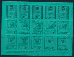 ** TIMBRES DE GREVE (REF. MAURY) - ** - N°4/6 - SAUMUR - Feuillet De 3 Bdes De 5 S/Fond Vert - B/TB - Strike Stamps