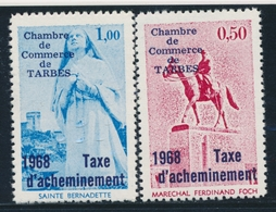 ** TIMBRES DE GREVE (REF. MAURY) - ** - N°7/8 - Tarbes - TB - Strike Stamps