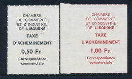 ** TIMBRES DE GREVE (REF. MAURY) - ** - N°10/11 - LIBOURNE - Signé Mayer - TB - Strike Stamps
