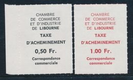 ** TIMBRES DE GREVE (REF. MAURY) - ** - N°10/11 - LIBOURNE - TB - Strike Stamps