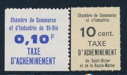 ** TIMBRES DE GREVE (REF. MAURY) - ** - N°12/13 - St Dié Et St Dizier - TB - Strike Stamps