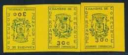 ** TIMBRES DE GREVE (REF. MAURY) - ** - N°14 (x3) Dt 1 Tête Bêche - ROANNE - TB - Strike Stamps