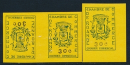 ** TIMBRES DE GREVE (REF. MAURY) - ** - N°14, 14a - TB - Strike Stamps