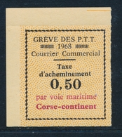 ** TIMBRES DE GREVE (REF. MAURY) - ** - N°15 - CORSE/Continent - BDF - TB - Strike Stamps