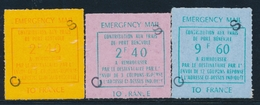 ** TIMBRES DE GREVE (REF. MAURY) - ** - N°24/26 - Surch. CS - Jersey - TB - Strike Stamps