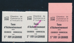 ** TIMBRES DE GREVE (REF. MAURY) - ** - N°29, 29A, 30 - Ste Foy La Grande - TB - Strike Stamps