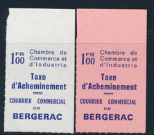 ** TIMBRES DE GREVE (REF. MAURY) - ** - N°31/32 - Bergerac - TB - Strike Stamps