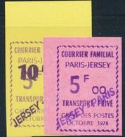 ** TIMBRES DE GREVE (REF. MAURY) - ** - N°37A/38A - 2 Valeurs - Surch. Jersey Paris - TB - Strike Stamps