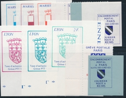 ** TIMBRES DE GREVE (REF. MAURY) - ** - N°39/40 Dent + ND , N°41/46, 52 - TB - Strike Stamps