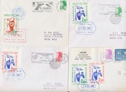 L TIMBRES DE GREVE (REF. MAURY) - L - Lot De 6 Plis - Grève De Lyon , Ajaccio, Paris - TB - Strike Stamps
