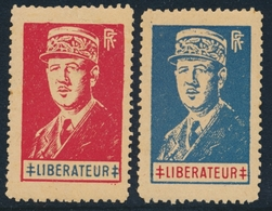 """** LIBERATION (Réf. MAYER 2015) - ** - De Gaulle - 2 Blocs """"Lyon Libéré""""  De 1944   - TB - Libération"""