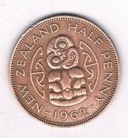HALF PENNY 1962  NIEUW ZEELAND /8309/ - Nouvelle-Zélande
