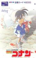 Carte Prépayée Japon * MANGA * DETECTIVE CONAN (16.548) COMIC * ANIME Japan Prepaid Card * CINEMA * FILM - Sport