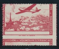 ** VARIETES - LVF - ** - N°3 - Piquage à Cheval Et Sans Le Bleu - Pli D'angle - Sinon TB - Variétés Et Curiosités