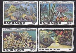 BARBADOS - 1980 UNDERWATER SCENERY SET (4V) FINE MNH ** SG 660-663 - Barbados (1966-...)