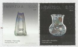 HR 2018-1346-7 JOINT ISSUES FRANCA HRVATSKA, CROATIA HRVATSKA, 1 X 2v, MNH - Emissions Communes