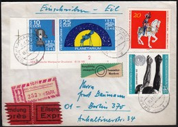 Germany DDR Grafenhainichen 1971 / Astronomy - The 125th Anniversary Of Carl Zeiss Jena / R Letter - Astrologie