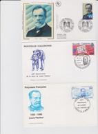 LOUIS PASTEUR 4 Env FDC Premier Jour France Nouvelle Calédonie Polynésie Wallis Et Futuna - 1995 - Louis Pasteur